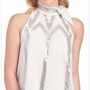 ✨Free People Sequin Bow Top